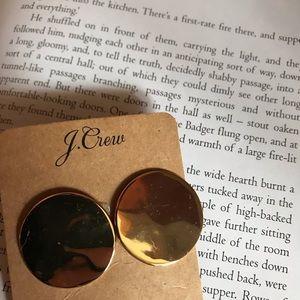 JCrew hammered gold earrings